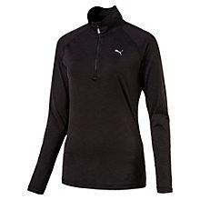 Hardloopsweater met lange mouwen en halve rits voor vrouwen
