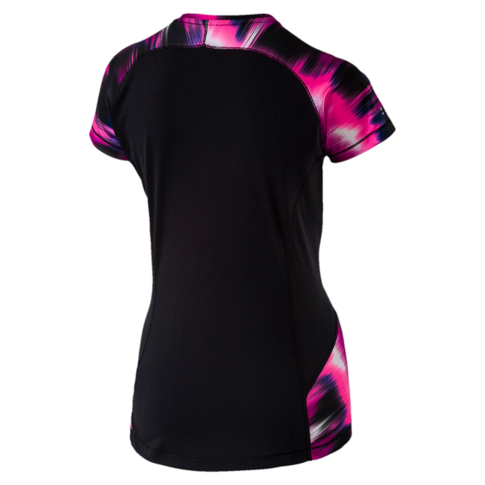 puma t shirt running graphic pour femme course t shirt performance femmes neuf. Black Bedroom Furniture Sets. Home Design Ideas