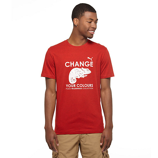 Wilderness Chameleon Slogan T-Shirt