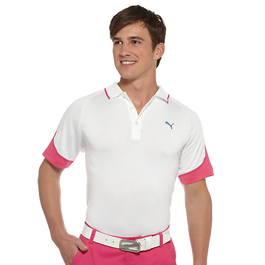 Colorblock Jacquard Golf Polo Shirt