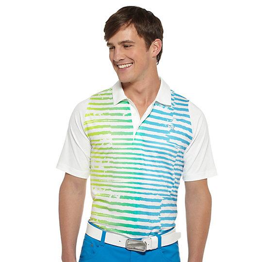 Duo-Swing Striped Golf Polo Shirt
