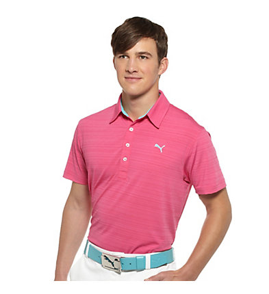 Barcode Striped Golf Polo Shirt