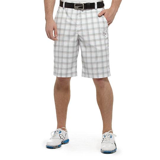 Tech Plaid Golf Bermuda Shorts