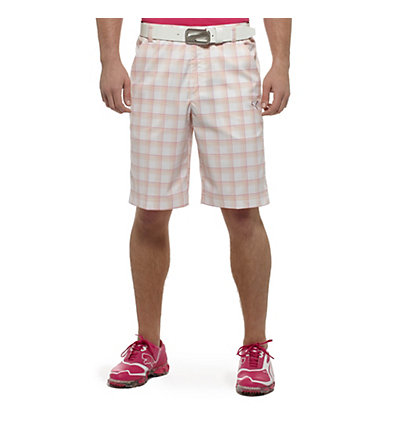 Tech Plaid Golf Bermuda Shorts