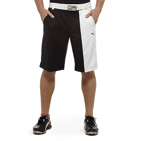 New Wave Colorblock Golf Bermuda Shorts