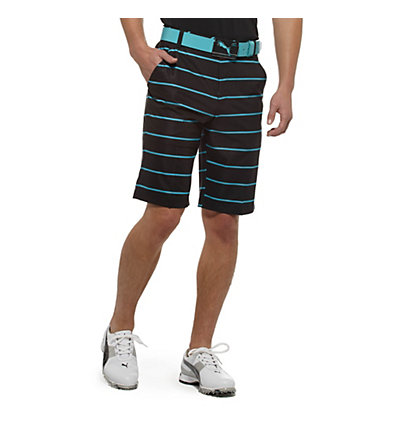 New Wave Striped Golf Bermuda Shorts