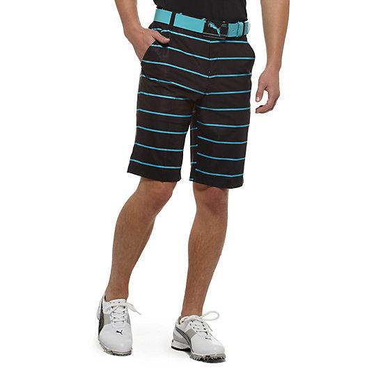 New Wave Striped Golf Bermuda Shorts