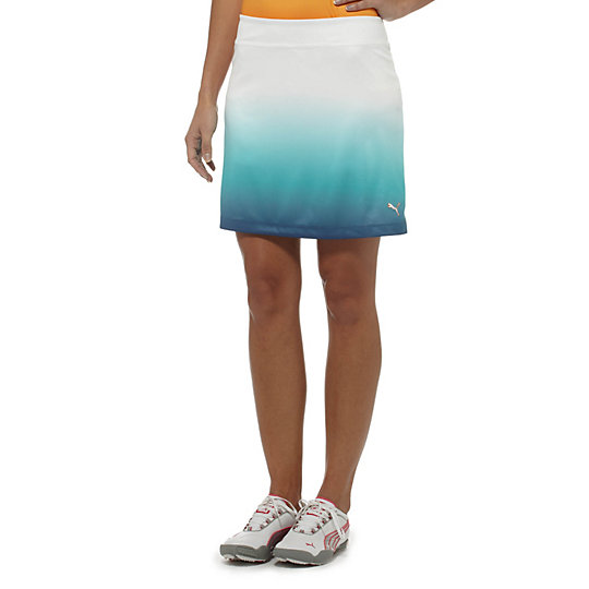 Ombre Print Golf Skirt
