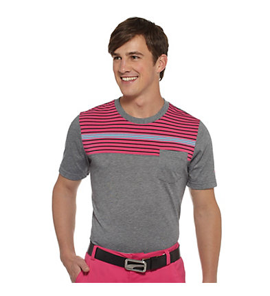New Wave Striped Golf T-Shirt