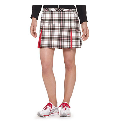 Tech Plaid Golf Skirt