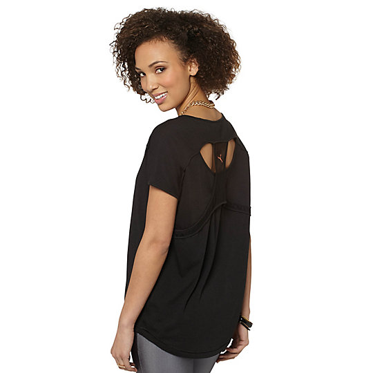 Mesh Panel T-Shirt