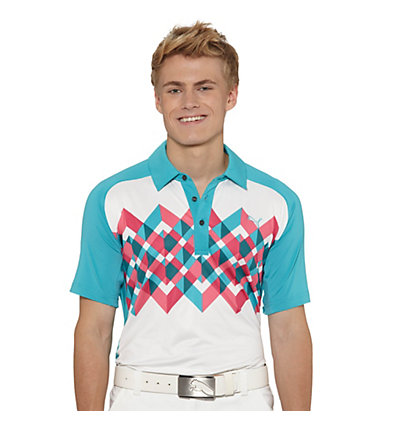 Raglan Graphic Golf Polo Shirt