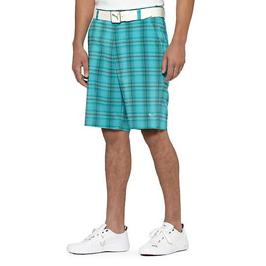 Tech Blur Plaid Golf Bermuda Shorts