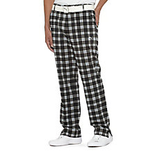 Tech Plaid Style Golf Pants