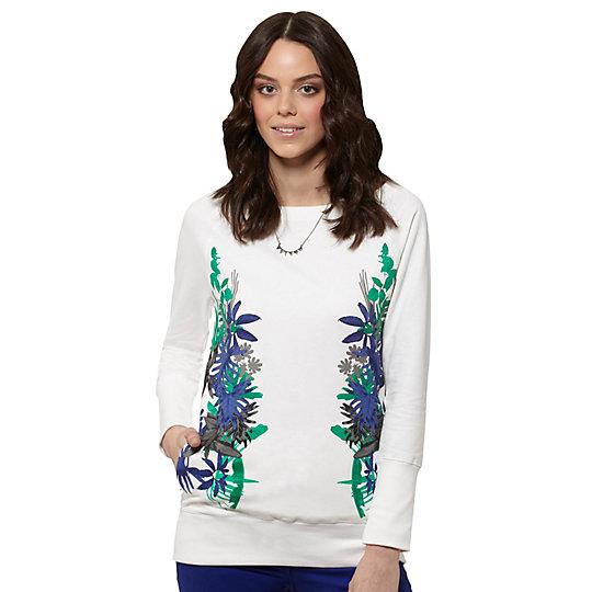 Tropical Print Sweatshirt
