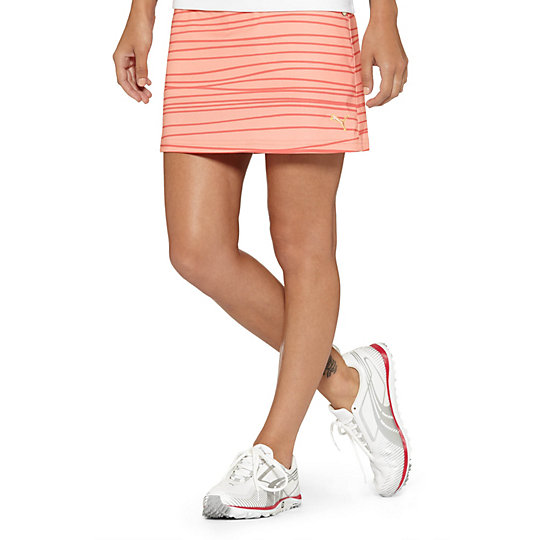 Line Print Golf Skirt