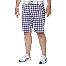 Tech Plaid Golf Shorts