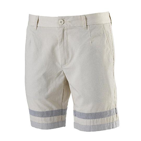 Шорты ChinoШорты<br>Шорты ChinoКороткие шорты Chino от PUMA – практичная, интересная модель, которая поможет вам создать независимый спортивный образ. Модные, оригинальные, они станут отличным дополнением вашего гардероба. Натуральная ткань, из которой выполнены шорты, приятна телу и обеспечивает хороший воздухообмен. На внутренней стороне изделия и на кармане имеются ярлыки с надписью PUMAхBWGH.  Сезон: весна-лето 2015 года Состав: 100% хлопок Шорты прямого кроя не сковывают движения, обеспечивая максимальный комфортЗадний карман на молнииКомфортная посадка<br><br>color: бежевый<br>size RU: 48-50<br>gender: Male