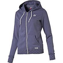 Varsity full zip hoodie.