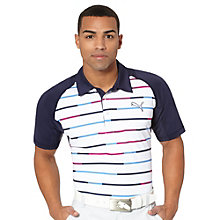 GT Print Stripe Golf Polo Shirt