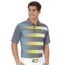 GT Fade Stripe Golf Polo Shirt