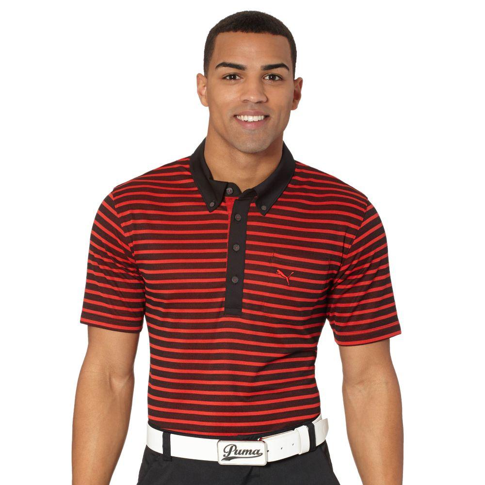 Puma Stripe Pocket Golf Polo Shirt Ebay
