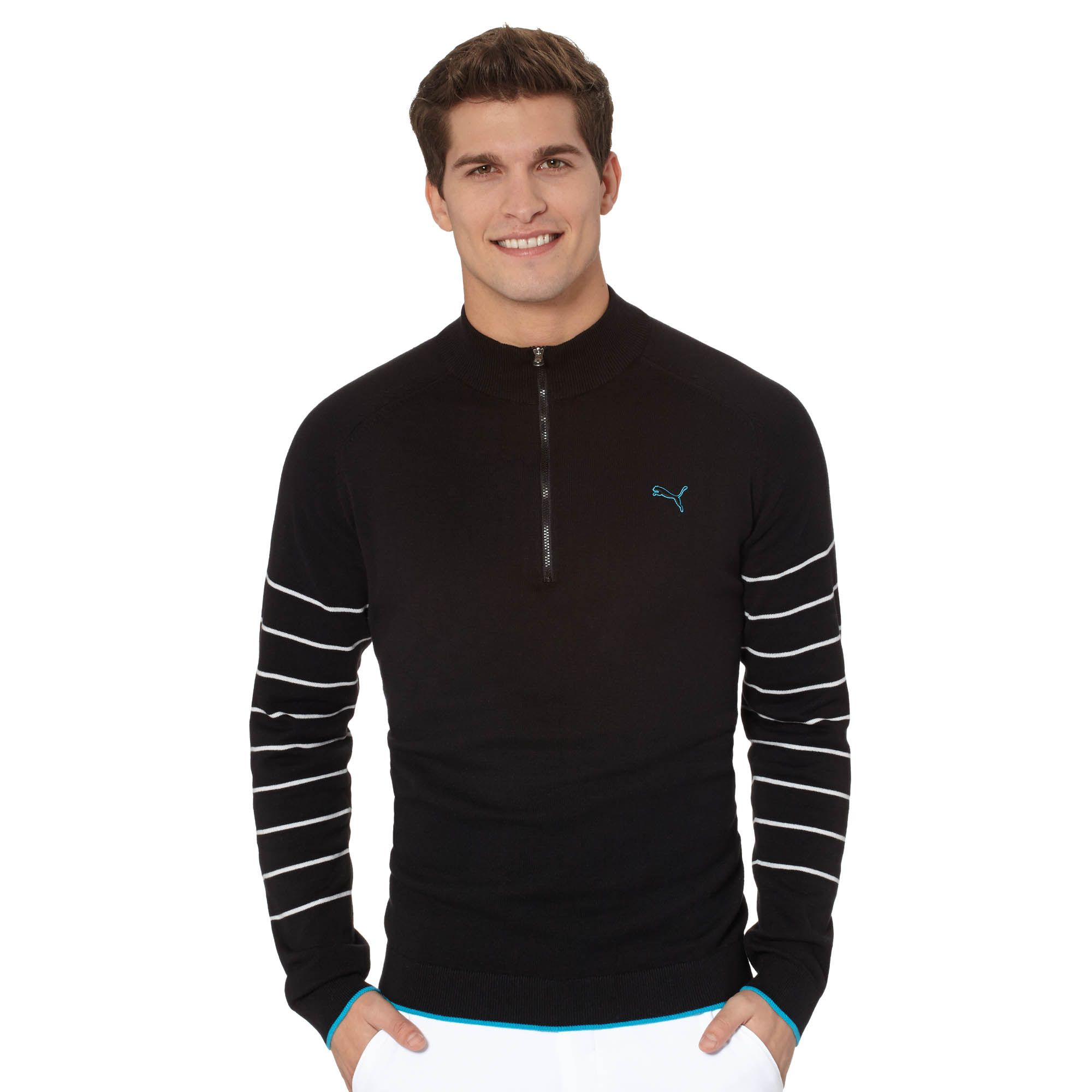 Image of 1/4 Zip Novelty Golf Sweater