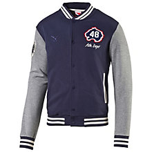 Varsity bomber jacket.