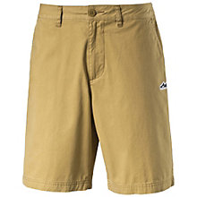 Suede chino shorts.
