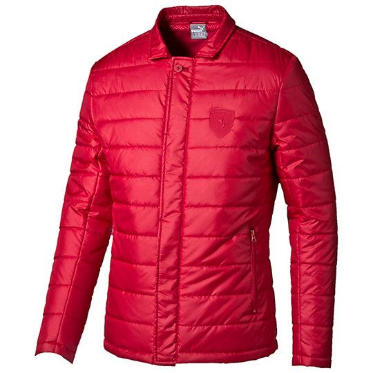 Куртка Ferrari Padded JacketКуртки, жилеты<br>Куртка Ferrari Padded JacketЛегкая куртка Ferrari Padded Jacket, отличающаяся функциональностью и практичностью, обеспечит вам надежную защиту в непогоду. Она является отличным вариантом для повседневной носки. Оформленная символикой Ferrari и логотипом PUMA, она сделает ваш спортивный образ элегантным.Сезон: осень-зима 2015 годаСостав: 100% полиэстерСтильный воротник-стоечкаВнутренний карман для сохранений самых важных вещейСпециальная планка, которая закрывает застежку, обеспечивая дополнительную защиту от ветра<br><br>color: красный<br>size RU: 44-46<br>gender: Male