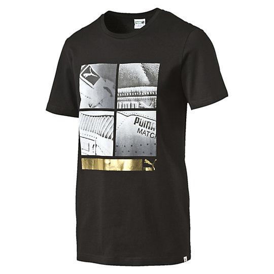 Футболка Sneaker 3 TeeФутболки и майки<br>Футболка Sneaker 3 Tee<br>Мужская футболка с ярким принтом обеспечит комфорт движений, а хлопок позволит коже дышать. Принт на передней части футболки привлечет внимание и подчеркнет ваше чувство стиля.<br><br>Коллекция: Весна-лето 2016.<br>Графика Puma. <br>Классический крой. <br>Материал - 100% хлопок<br><br><br>color: черный<br>size RU: 44-46<br>gender: Male