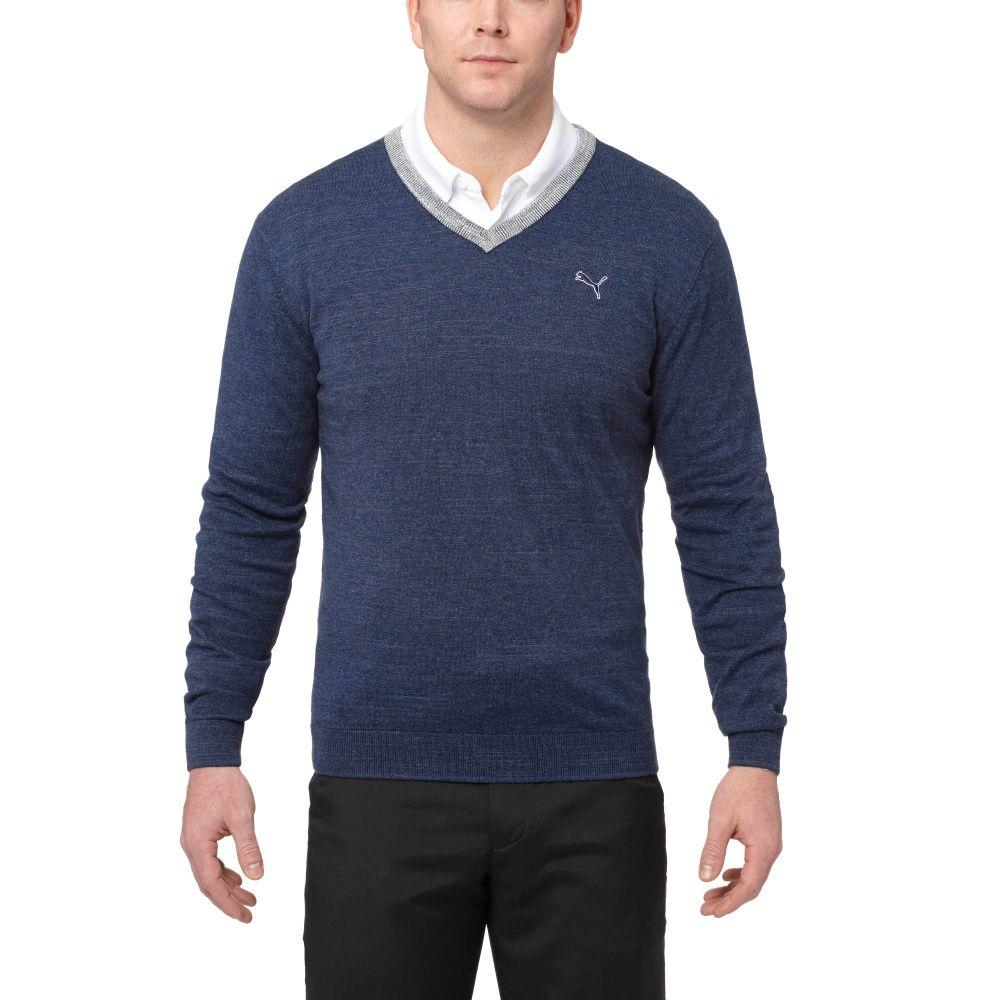 Blue V Neck Sweater