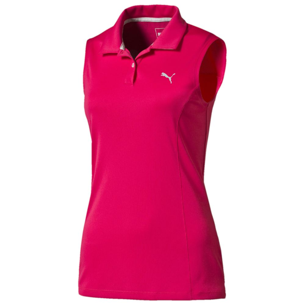 Puma pounce sleeveless golf polo shirt for Ladies sleeveless golf polo shirts