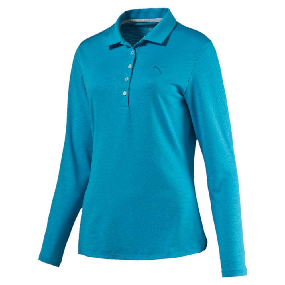 Puma long sleeve golf polo shirt for Long sleeve golf polo shirts