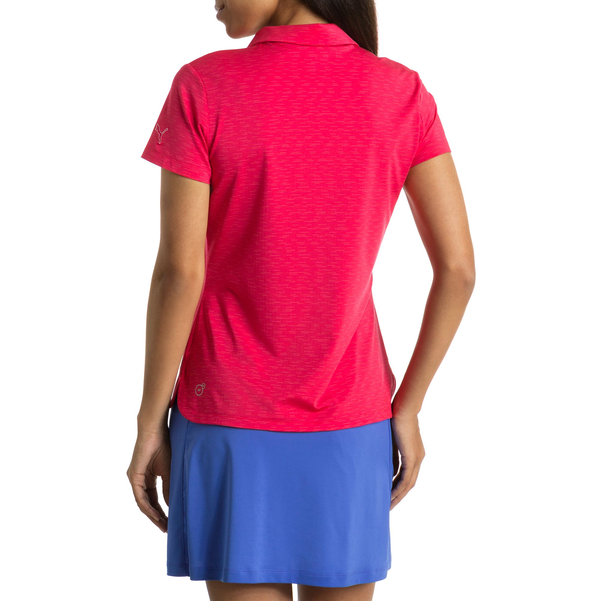 puma golf damen space dye pwrcool polo frauen polo shirt. Black Bedroom Furniture Sets. Home Design Ideas