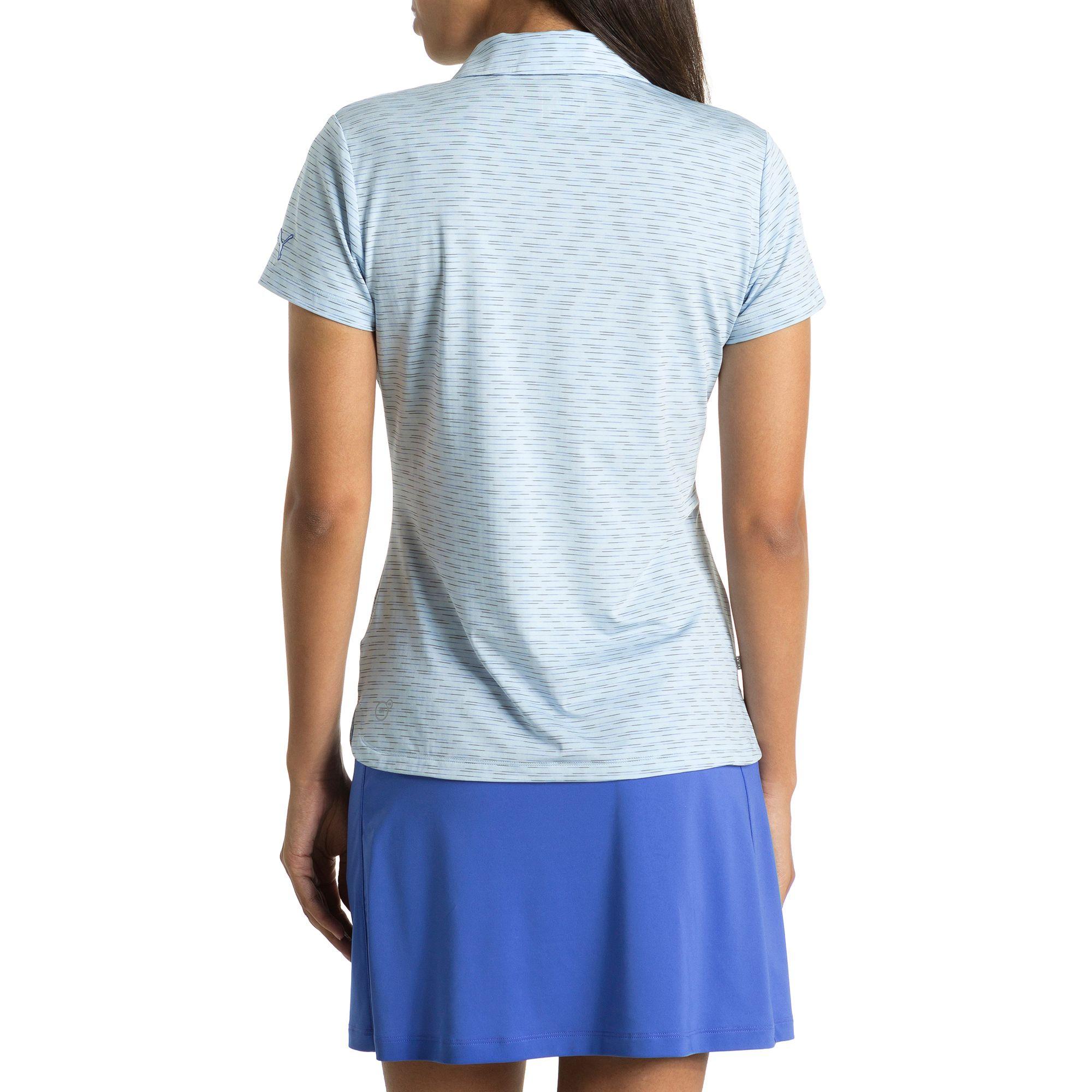 puma golf damen space dye pwrcool polo frauen polo shirt golf neu ebay. Black Bedroom Furniture Sets. Home Design Ideas