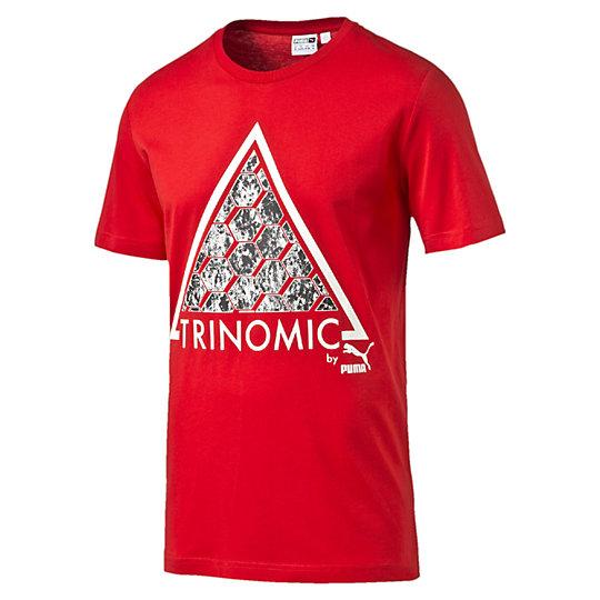 Футболка Trinomic TeeФутболки и майки<br>Футболка Trinomic Tee<br>Хлопковая футболка отличается стильным дизайном за счет крупного принта на груди. Благодаря свободному крою футболка не стеснит движения и позволит всегда быть активным.<br><br>Коллекция: Весна-лето 2016.<br>Стильный принт.<br>Классический крой.<br>Материал - 100% хлопок<br><br><br>color: красный<br>size RU: 46-48<br>gender: Male