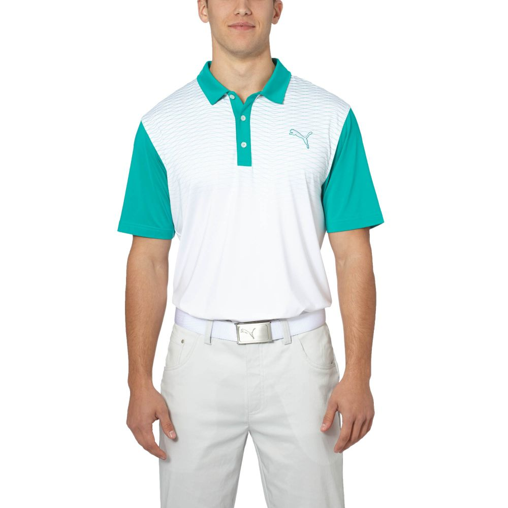 Puma Colorblock Fade Golf Polo Shirt Ebay