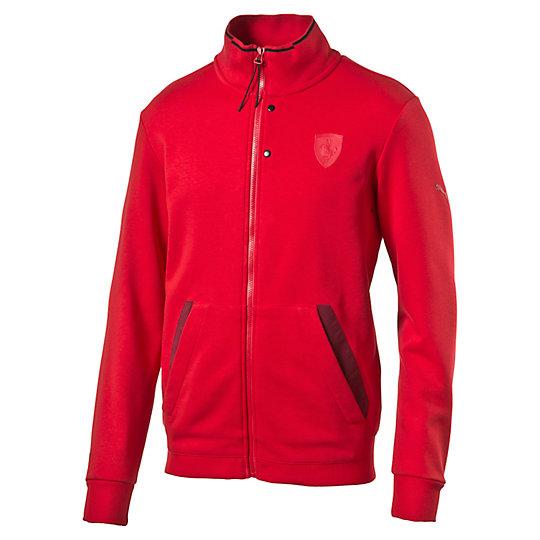 Толстовка Ferrari Sweat JacketТолстовки и худи<br>Толстовка Ferrari Sweat Jacket<br>Удивительно, как отличная толстовка может преобразить ваш внешний вид. Что скажете насчет… Вот этой. Символика Ferrari означает, что эта одежда на порядок лучше, чем все остальное в вашем гардеробе. Порой не сразу заметные детали показывают, как сильно вы любите автоспорт.<br><br>Коллекция: Осень-зима 2016<br>Состав: 67% хлопок, 33% полиэстер<br>Полноразмерная застежка-молния по всей длине с контрастной окантовкой на воротнике<br>Карман-кенгуру<br>Логотип Ferrari в виде щита на груди слева<br>Логотип PUMA на правом плече<br>Страна-производитель: Китай<br><br><br>size RU: 44-46<br>gender: Male