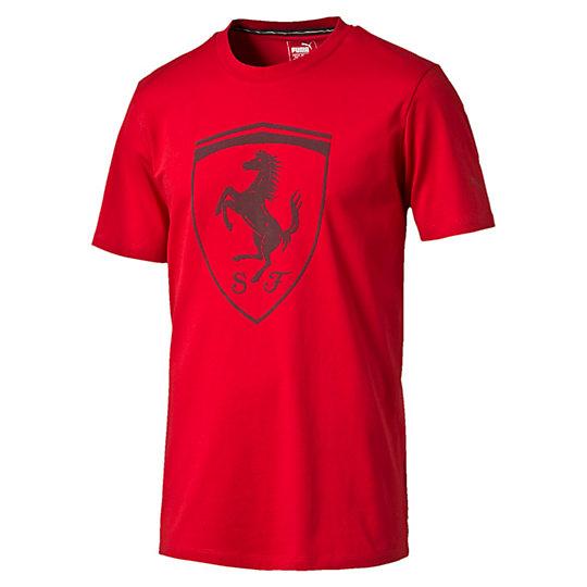 Футболка Ferrari Big Shield TeeФутболки и майки<br>Футболка Ferrari Big ShieldЭта футболка в стиле Ferrari с большим принтом Ferrari Shield великолепно дополнит ваш гардероб фаната автоспорта.Коллекция: Осень-зима 2016Состав: 100% хлопокЦвета: черный, красный, синийКруглый вырезЛента с итальянским флагом на стойке воротникаСтрана-производитель: Китай<br><br>size RU: 48-50<br>gender: Male