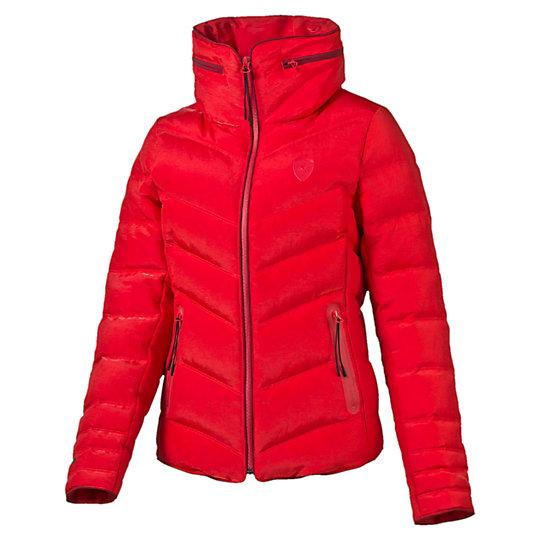 Куртка Ferrari Down JacketКуртки, жилеты<br>Куртка Ferrari Down Jacket<br>Стильная и теплая куртка Ferrari Down Jacket. Высокотехнологичный дышащий материал warmCELL сохранит комфортную температуру тела даже в холодную погоду.<br><br>Коллекция: Осень-зима 2016<br>Состав: 67% нейлон, 33% полиэстер. Наполнитель: 80% пух (некрашеный), 20% перо (некрашеное)<br>Технологии: warmCELL<br>Страна-производитель: Тайвань<br><br><br>size RU: 44-46<br>gender: Female