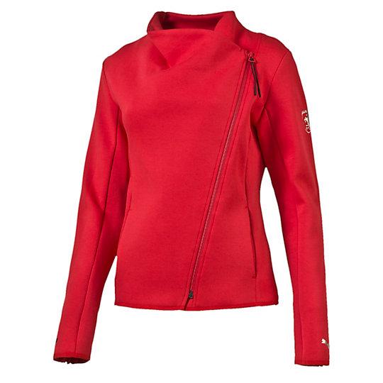 Толстовка Ferrari Sweat JacketТолстовки и худи<br>Толстовка Ferrari Sweat Jacket<br>Удивительно, как отличная толстовка может преобразить ваш внешний вид. Что скажете насчет… Вот этой. Символика Ferrari означает, что эта одежда на порядок лучше, чем все остальное в вашем гардеробе. Порой не сразу заметные детали показывают, как сильно вы любите автоспорт.<br><br>Коллекция: Осень-зима 2016<br>Состав: 77% хлопок, 23% полиэстер<br>Асимметричная застежка-молния<br>Два боковых кармана<br>Логотип Ferrari на левом рукаве<br>Логотип PUMA на кайме левого рукава<br>Страна-производитель: Китай<br><br><br>size RU: 42-44<br>gender: Female