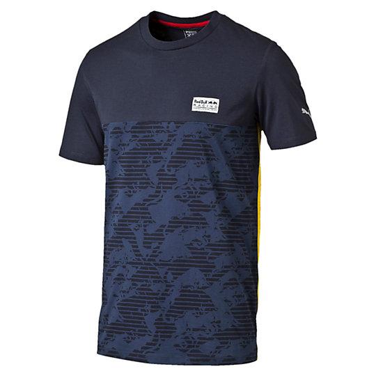 Футболка RBR Allover TeeФутболки и майки<br>Футболка RBR Allover Tee<br>Стильная футболка RBR Allover Tee. На футболке имеются принт логотипа RBR цвета «металлик», нанесенный с помощью краски на водной основе, а также плотный принт логотипа PUMA.<br><br>Коллекция: Осень-зима 2016<br>Состав: 100% хлопок<br>Страна-производитель: Китай<br><br><br>size RU: 52-54<br>gender: Male