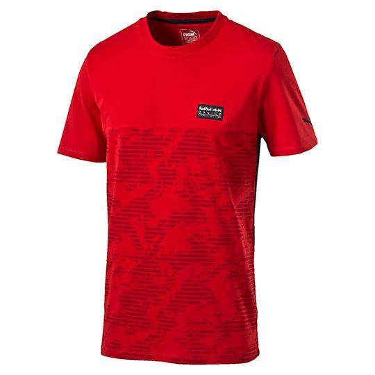 Футболка RBR Allover TeeФутболки и майки<br>Футболка RBR Allover Tee<br>Стильная футболка RBR Allover Tee. На футболке имеются принт логотипа RBR цвета «металлик», нанесенный с помощью краски на водной основе, а также плотный принт логотипа PUMA.<br><br>Коллекция: Осень-зима 2016<br>Состав: 100% хлопок<br>Страна-производитель: Китай<br><br><br>size RU: 44-46<br>gender: Male