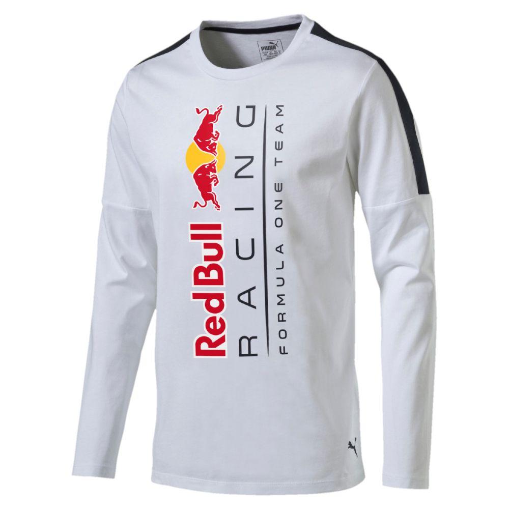 Puma red bull racing logo long sleeve t shirt for Red bull logo shirt