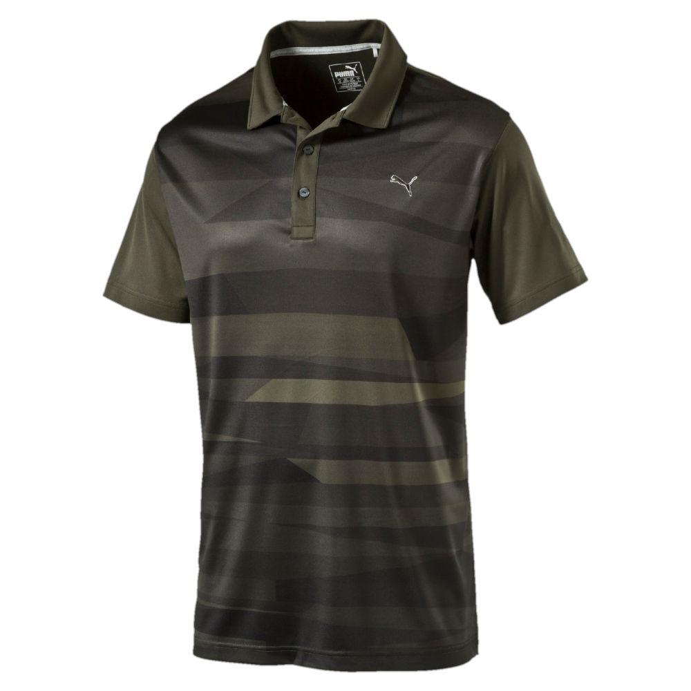 Puma Ice Stripe Golf Polo Shirt Ebay