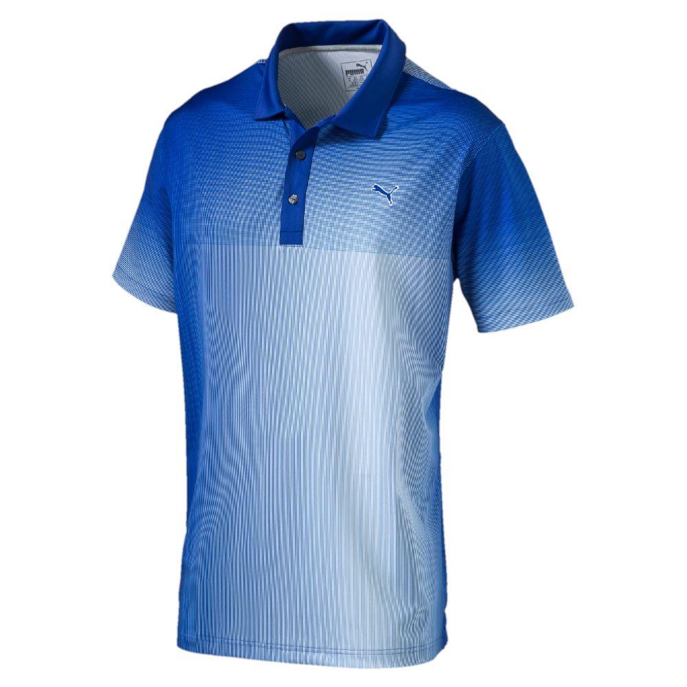 Puma Grid Fade Golf Polo Shirt Ebay