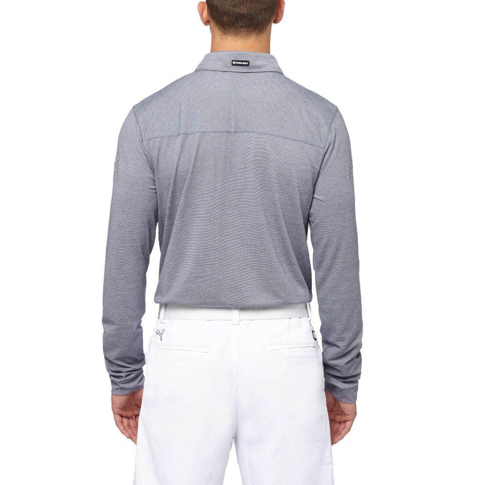 Puma tailored microstripe long sleeve golf polo shirt ebay for Long sleeve golf polo shirts