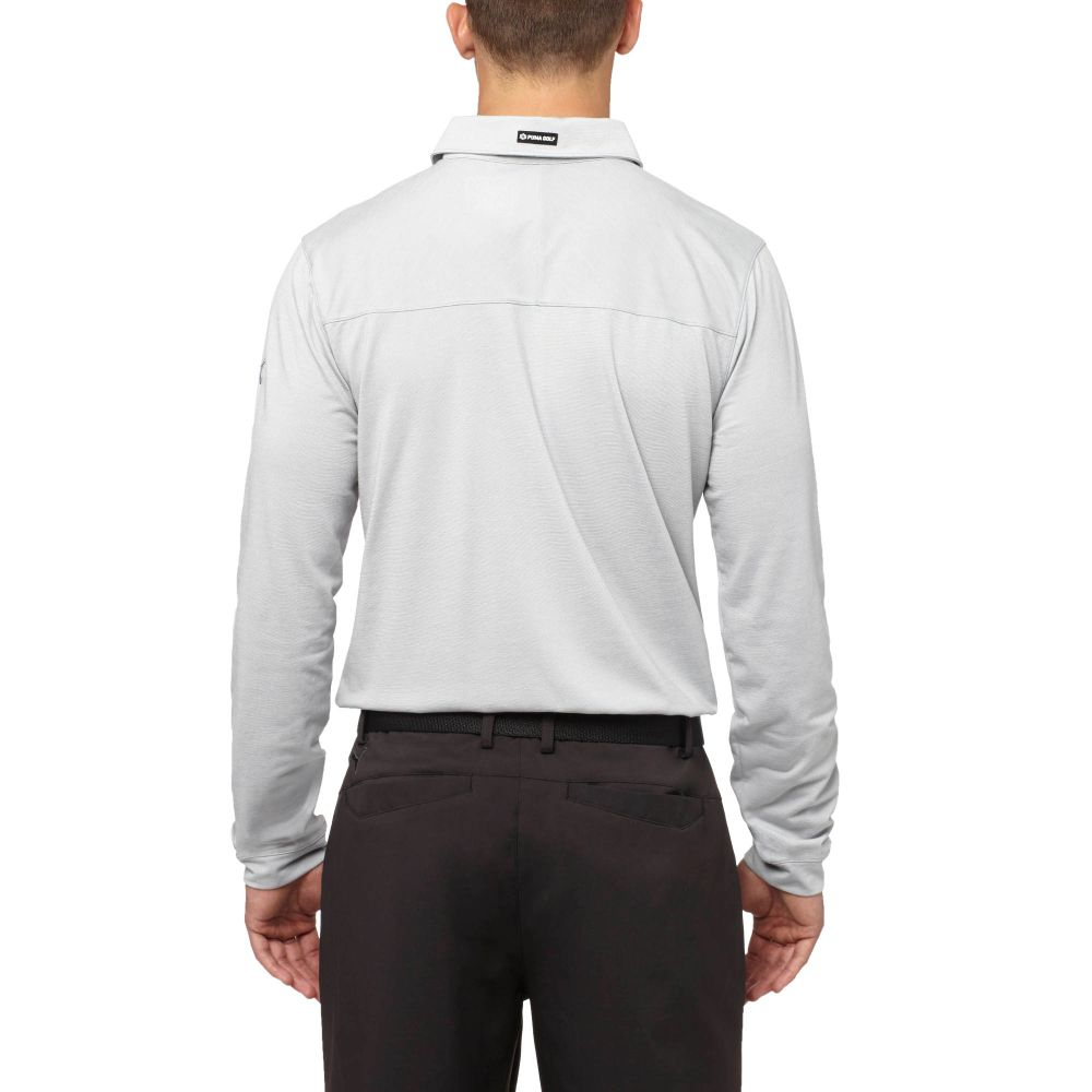 Puma Tailored Microstripe Long Sleeve Golf Polo Shirt Ebay