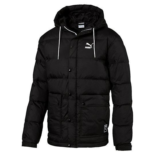 Куртка Outerwear Down JacketКуртки, жилеты<br>Куртка Outerwear Down Jacket<br>Эта куртка готова к любым испытаниям благодаря удобному фасону с набивкой пухом и удобными карманами на молнии. К тому же она радует глаз.<br><br>Коллекция: Осень-зима 2016<br>Состав: 100% полиэстер, ткань с водоотталкивающим покрытием<br>Капюшон с затягивающимся шнурком<br>Полноразмерная застежка-молния с кнопками<br>Два боковых кармана с кнопками<br>Эластичные манжеты и капюшон<br>Логотип PUMA Archive на левой стороне груди<br>Бирка с логотипом PUMA на левом бедре<br>Страна-производитель: Тайвань<br><br><br>size RU: 50-52<br>gender: Male